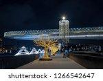 beautiful night view on soaring ...   Shutterstock . vector #1266542647