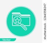 search folder vector icon sign...   Shutterstock .eps vector #1266558247