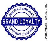 grunge blue brand loyalty word... | Shutterstock .eps vector #1266570487