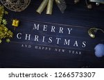 christmas  frame  decorations... | Shutterstock . vector #1266573307