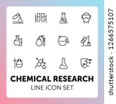 chemical research line icon set.... | Shutterstock .eps vector #1266575107