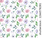 seamless pattern  watercolor... | Shutterstock . vector #1266578281