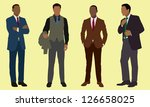 black businessman in suits | Shutterstock .eps vector #126658025