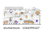 firefighters poster banner... | Shutterstock . vector #1266590167