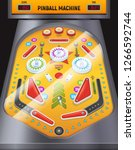 colored and cartoon pinball... | Shutterstock .eps vector #1266592744