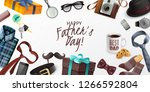 happy fathers day greeting card ...   Shutterstock .eps vector #1266592804