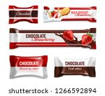 chocolate candies and biscuits... | Shutterstock .eps vector #1266592894