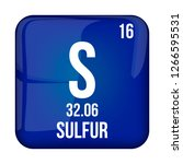 sulfur symbol.chemical element...   Shutterstock .eps vector #1266595531