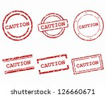 caution stamps | Shutterstock .eps vector #126660671