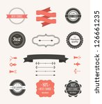 vector illustration. collection ... | Shutterstock .eps vector #126661235