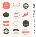 vector illustration. collection ... | Shutterstock .eps vector #126661241