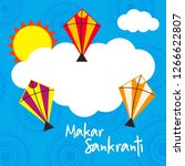 happy makar sankranti...   Shutterstock .eps vector #1266622807