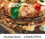 detail on roscon de reyes... | Shutterstock . vector #1266623941