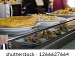 spanish omelette or tortilla de ... | Shutterstock . vector #1266627664