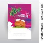 pongal festival greeting...   Shutterstock .eps vector #1266635131