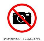 no photo camera vector sign... | Shutterstock .eps vector #1266635791