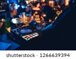 dj plays live set and mixing... | Shutterstock . vector #1266639394