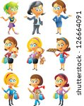 female set | Shutterstock .eps vector #126664091