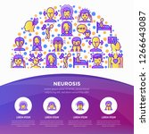 neurosis concept in half circle ... | Shutterstock .eps vector #1266643087