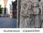 jesus christ statue relief in... | Shutterstock . vector #1266643504