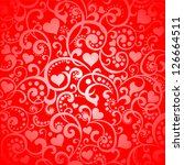 valentine's day background with ... | Shutterstock .eps vector #126664511