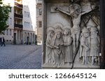 jesus christ statue relief in... | Shutterstock . vector #1266645124