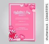 valentine party invitation...   Shutterstock .eps vector #1266655591