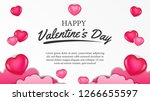 happy valentine's day banner... | Shutterstock .eps vector #1266655597