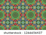 arabesque. raster circular... | Shutterstock . vector #1266656437