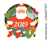 merry christmas and happy new...   Shutterstock .eps vector #1266657337