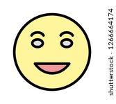 lol emoji vector icon sign icon ...   Shutterstock .eps vector #1266664174