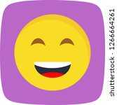 lol emoji vector icon sign icon ...   Shutterstock .eps vector #1266664261