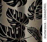 palm leaves ornate vector...   Shutterstock .eps vector #1266665401