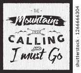 mountain poster in retro... | Shutterstock .eps vector #1266666304