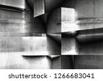abstract geometric concrete... | Shutterstock . vector #1266683041