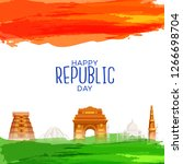 illustration of happy indian... | Shutterstock .eps vector #1266698704