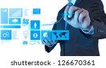 businessman hand working with... | Shutterstock . vector #126670361