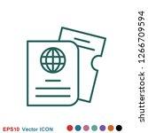 travel documents icon  passport ...   Shutterstock .eps vector #1266709594