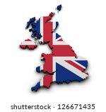 great britain background. shape ... | Shutterstock . vector #126671435