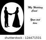 wedding card | Shutterstock . vector #126671531