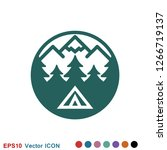 vector camping icon to use for...