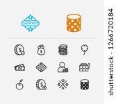 entertainment icons set. gamble ...