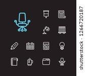 office icons set. calculator...