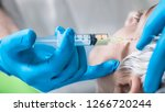 prp face cosmetics injecting.... | Shutterstock . vector #1266720244