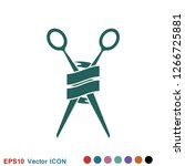 barber icon vector  for web and ...   Shutterstock .eps vector #1266725881