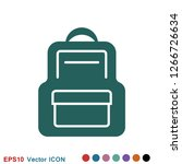 backpack solid icon. luggage...   Shutterstock .eps vector #1266726634