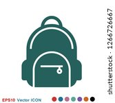 backpack solid icon. luggage...   Shutterstock .eps vector #1266726667
