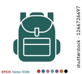 backpack solid icon. luggage...   Shutterstock .eps vector #1266726697