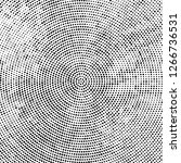 halftone black and white radial ... | Shutterstock .eps vector #1266736531