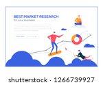 best market research  flat... | Shutterstock .eps vector #1266739927
